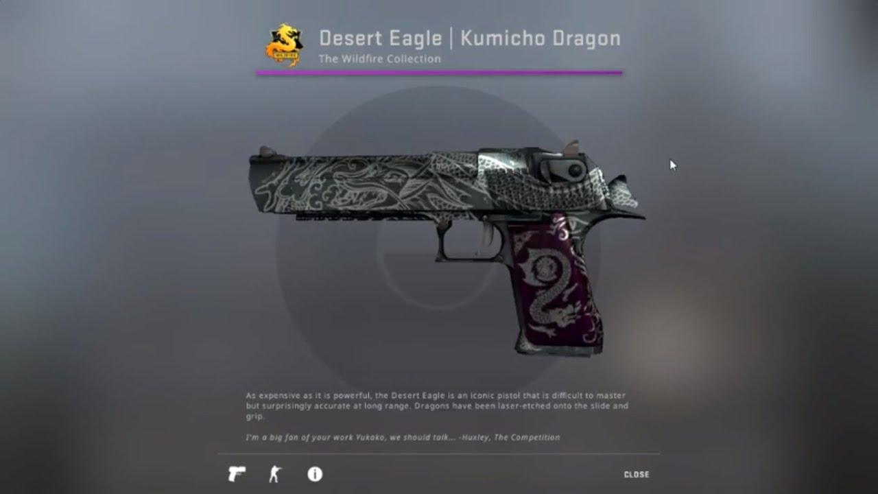 CSGO Desert Eagle Kumicho Dragon BS 0.581037700 - YouTube