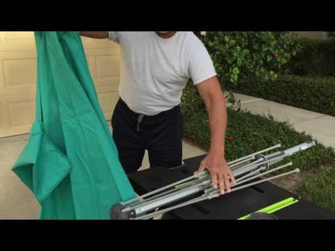 Removing & Replacing The Vented Bistro Patio Umbrella Canopy