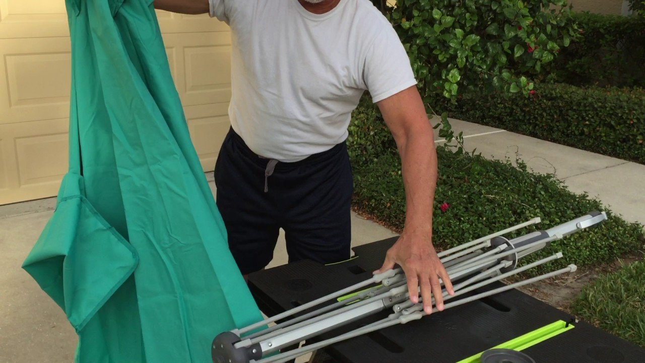 Removing U0026 Replacing The Vented Bistro Patio Umbrella Canopy