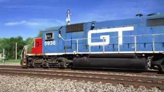 Grand Trunk Western SD40-2 GTW 5936 travels through Vicksburg