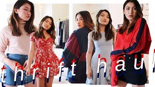 GOODWILL TRY ON THRIFT HAUL (DIY's + 90's finds)