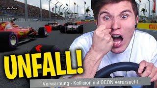 DIESER UNFALL SCHIEßT MICH AUF PLATZ 1  ✪ F1 2017 mit Lenkrad