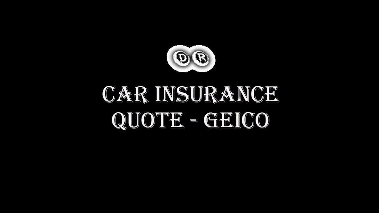 Geico Free Quote Car Insurance Quote In Geico  Youtube