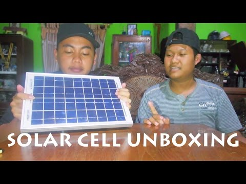 Unboxing Panel Surya/Solar Cell Polycrystalline SUNLITE 10wp Indonesia (Affan Muhammad)
