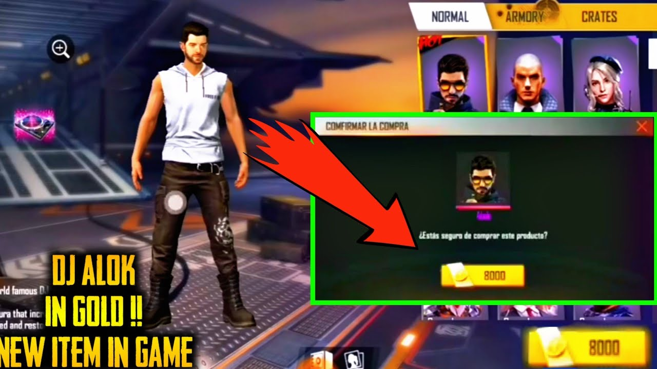 Dj Alok Finally In Gold New Item Is Coming New Update Garena Free Fire Ffgz1m Youtube