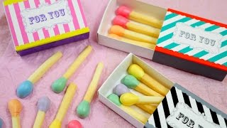 Pastel Matchstick Cookies マッチ一本火事の元 春色パステルマッチ棒クッキー 頭薬は焼きメレンゲ