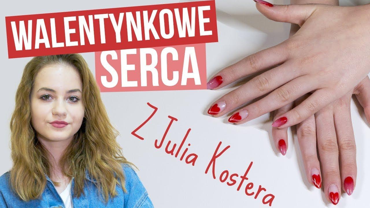 PAZNOKCIE NA WALENTYNKI z Julia Kostera – KaroLove Nails | Blogodynka