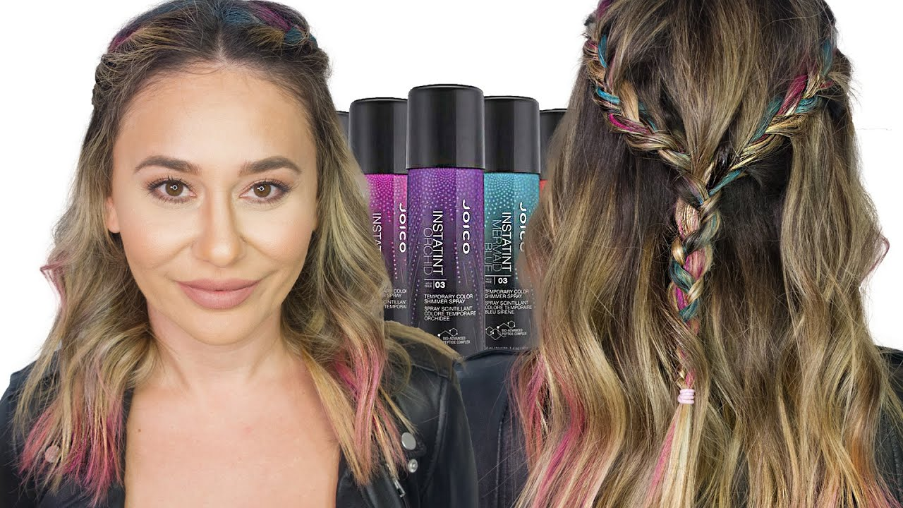 to wear - Temporary Sasha hair color spray pictures video