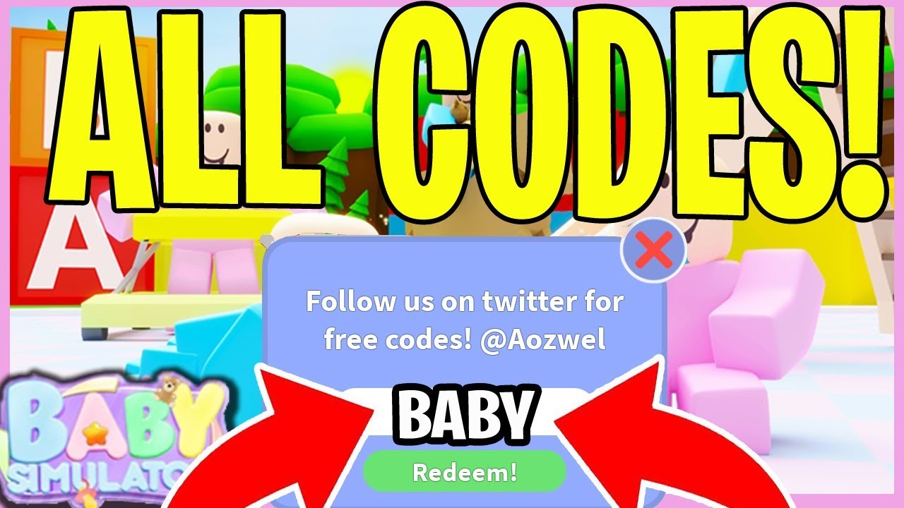 Codes For Baby Simulator Roblox Wiki All Baby Simulator Codes Roblox 13 Working New Mars Update Youtube