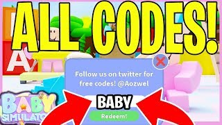 All 5 Insane Codes In Baby Simulator Roblox Baby