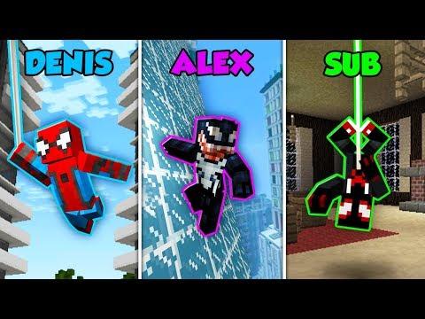 DENIS vs ALEX vs SUB - SPIDERMAN MOVIE in Minecraft! (The Pals)