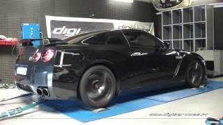 * Reprogrammation Moteur * Nissan GTR 35 485cv STAGE 2+ @ 630cv Dyno Digiservices Paris