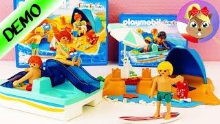 Playmobil Family Fun ZESTAWy LETNIE | Rodzina na plaży & rower wodny