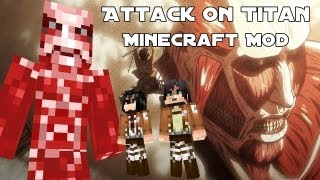 Minecraft Attack On Titan Mod : مود انمي هجوم على العمالقة في ماين كرافت