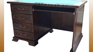 видео Компьютерный стол из массива дерева. Столы компьютерные из сосны купить выгодно в интернет магазине Мебель-Сосна!