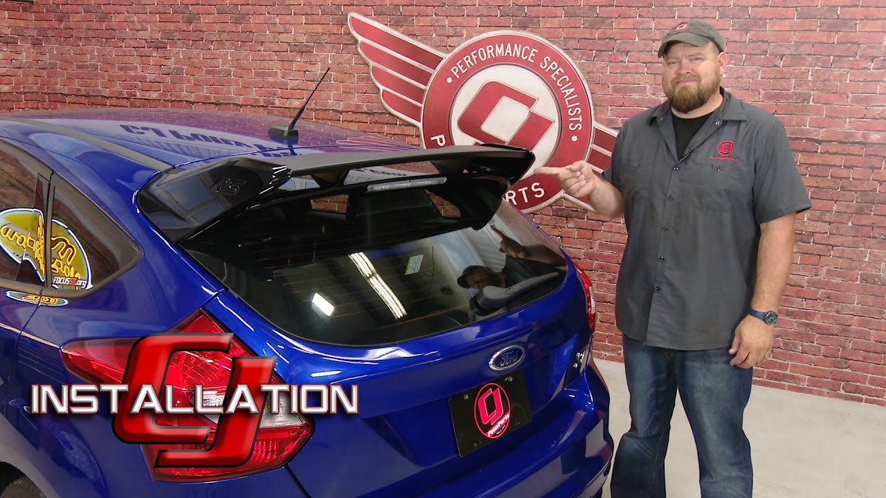 Amazing Focus ST Ford Performance Rear Spoiler Kit U00272016 Focus RS Styleu0027 Shadow  Black 2012 2016 Installation   YouTube