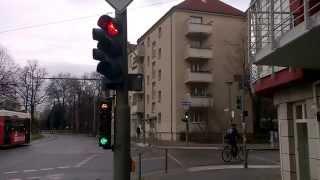 Berlynas (Berlin). Pėsčiųjų ir dviračių šviesoforai (1) (traffic lights for bicycles, pedestrians)