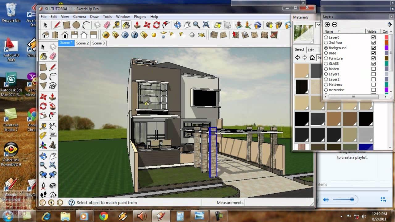 Google Sketchup Tutorial 11 Vray Exterior animation