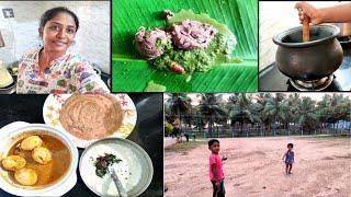 சிறுதானிய தோசை 💪 Again I start My Usual Routine|| Ragi Kali | Kids play with our pets | shyaway Haul