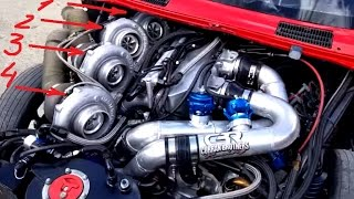 Big Turbo Engines Starting Up | Monster Engine Modification