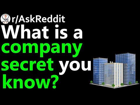 What Is A Company Secret You Know? R/AskReddit | Reddit Jar