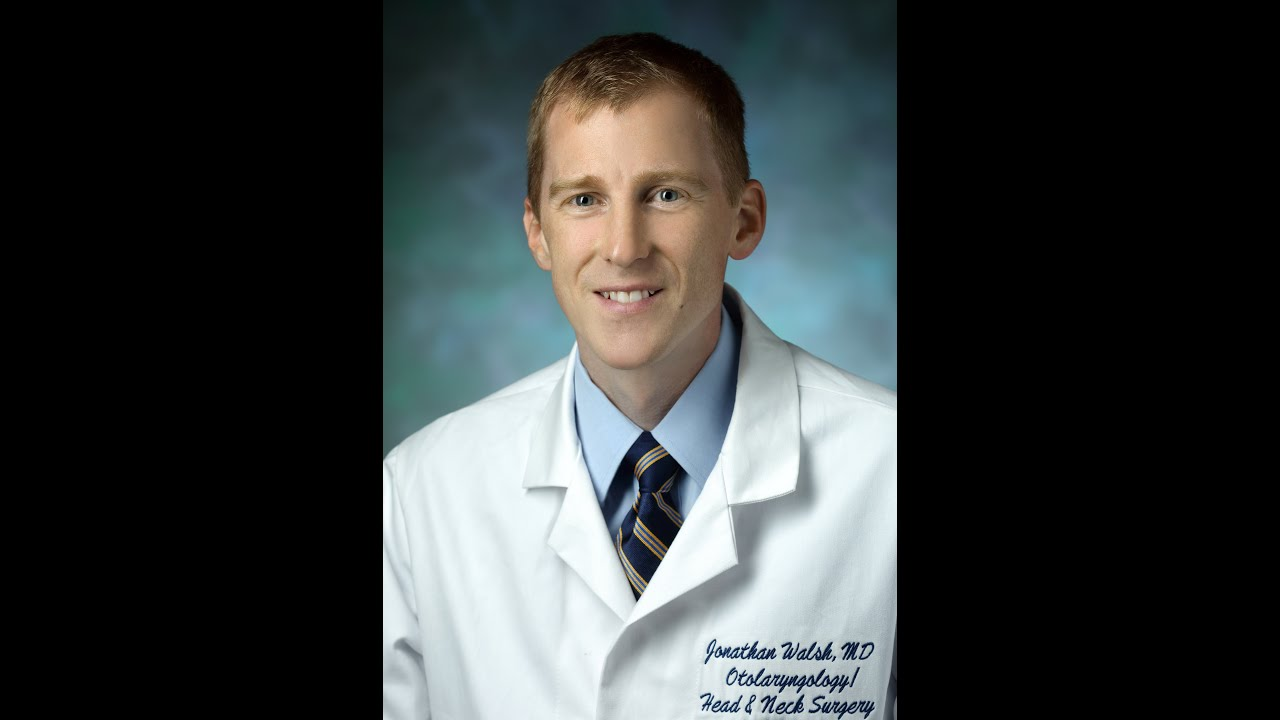 Jonathan Walsh, M D , Assistant Professor of Otolaryngology