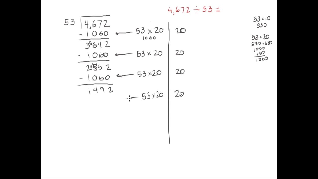 Partial Quotients Example Youtube