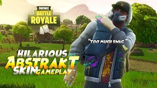 Hilariante novo Abstrakt Skin gameplay | Battle Royale do Fortnite