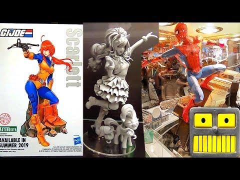 2018 New York Comic Con Kotobukiya Booth Tour NYCC Bishoujo Artfx Statues Collection