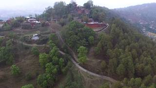 Changunarayan Temple Village Nepal - Drone View From Changu Farm House