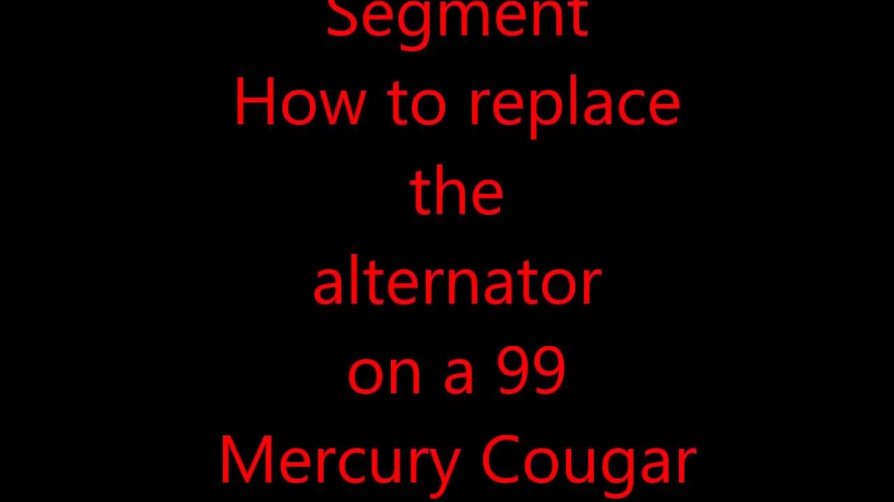 How replace Alternator on Mercury Cougar - YouTube on 2005 ford explorer radio wiring diagram, 1994 mercury sable ignition wiring diagram, 1998 ford contour engine diagram,