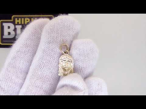 Nano Jesus Pendant 10K Yellow Gold