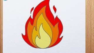How to Draw a Fire | How to Draw Flame