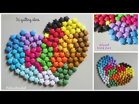 Paper stars   Origami lucky stars   How to make lucky paper stars tutorial