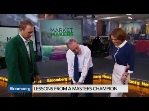 Masters Champion Jordan Spieth Gives A Golf Lesson to Mike Bloomberg
