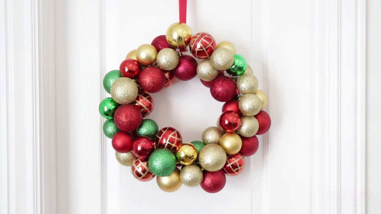 How To Make An Ornament Wreath Youtube