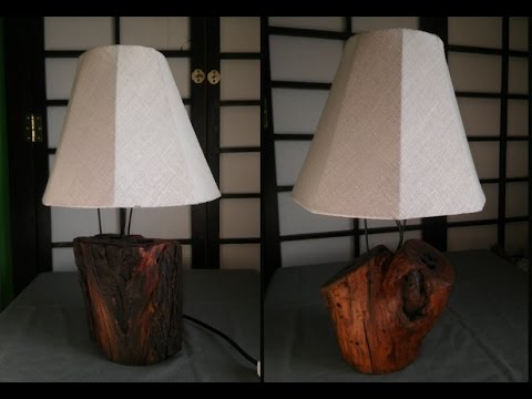 Rustic table lamps making youtube rustic table lamps making aloadofball Gallery