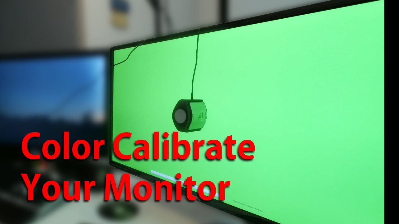 monitor color calibrate with the xrite display i1 pro
