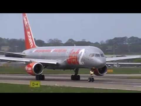 Plane Spotting At Leeds Bradford Planes Landing And Takeing Off On Runway 32 On The 03/05/2014