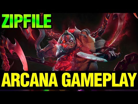NEW ARCANA GAMPLAY AND GIVEAWAY!! - ZIPFILE PUDGE 7.12 PUDGE ARCANA - Dota 2