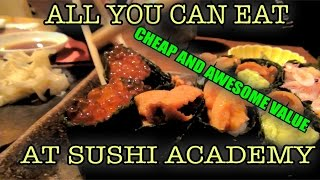 Pro sushi at discount price, eating at Tokyo Sushi Academy Chefs