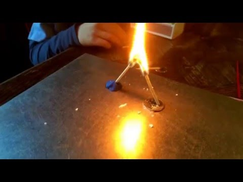 Fun with fire science. Match trick.