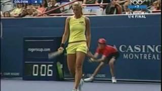 Sexy Tatiana Golovin in yellow shorts !!