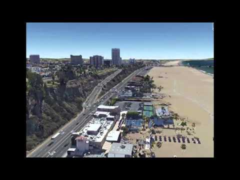 LA, Santa Monica, Venice Beach, Google Earth