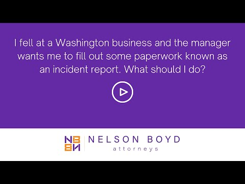 Slip and Fall Law | Washington State | Nelson Boyd Attorneys