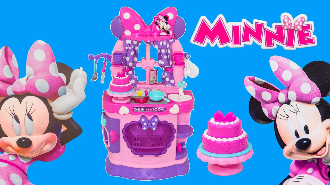 Unboxing the Minnie Mouse Sweet Surprise Kitchen Toys with the ...