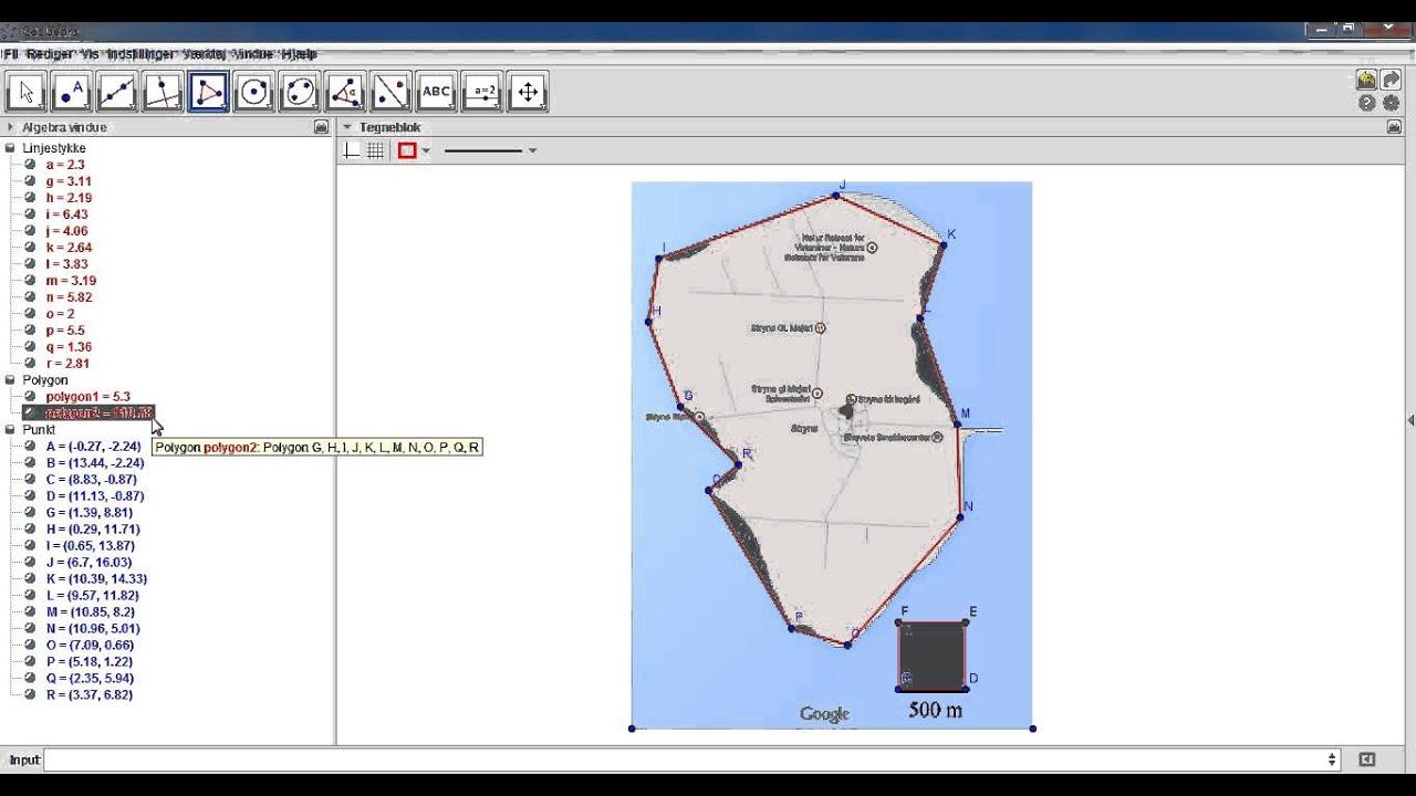 GeoGebra - Areal på kort