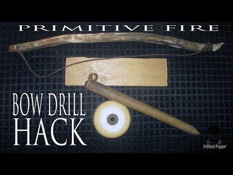 Bow Drill Hack- Bearing Block Alternative