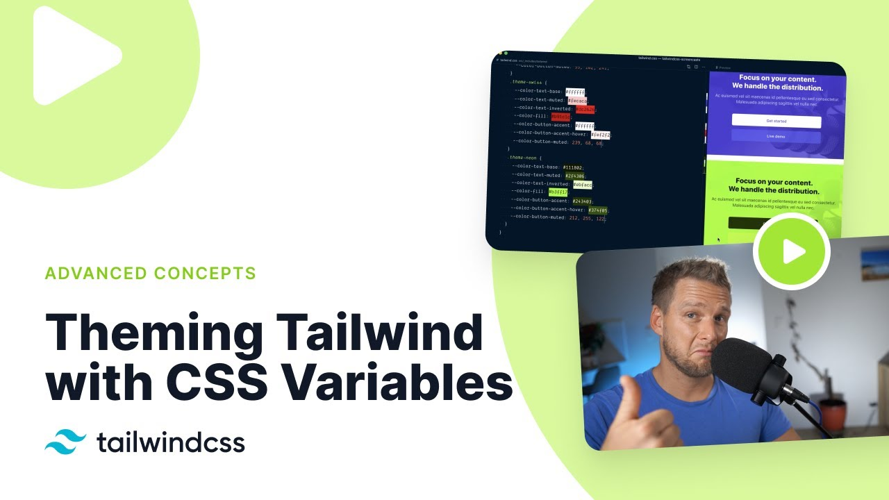 Theming Tailwind with CSS Variables