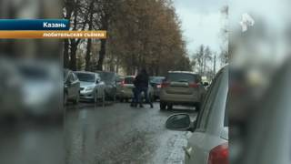 Водители решили на кулаках дорожный конфликт в Казани